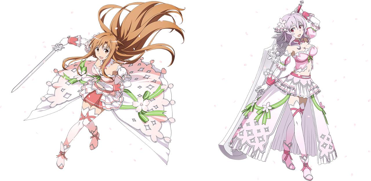 ソードアート オンライン コード レジスタ で桜装備の アスナ