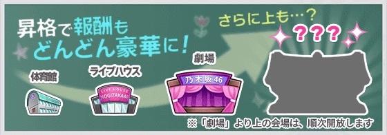 乃木恋【攻略】: 昇格すべきか!? ライブ会場ごとの特徴と昇格までにしておきたいこと
