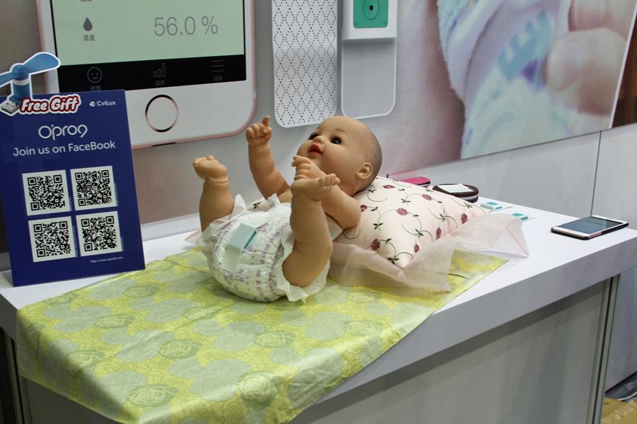 スマホで赤ちゃんのオムツを監視!? iOS端末のための機器を集めたiStyleコーナー【COMPUTEX 2016】