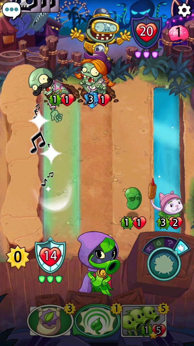 plants vs zombies heroes プラントvs ゾンビ ヒーローズ ゲーム