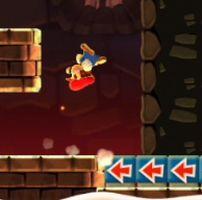 スーパーマリオ ラン【攻略】:ワールドツアーモード1 4「ぶらさがる お城」カラーコインコンプリート攻略