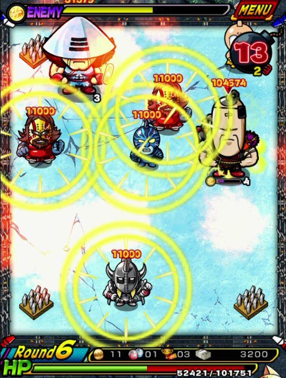 マッスルショット【攻略】: 2,000万パワー猛襲「魔の防御(ディフェンド)合戦凱」(凱キン肉マン)攻略