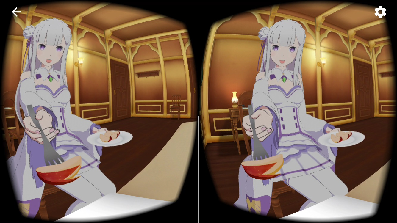 VRでエミリアと異世界生活   膝枕編