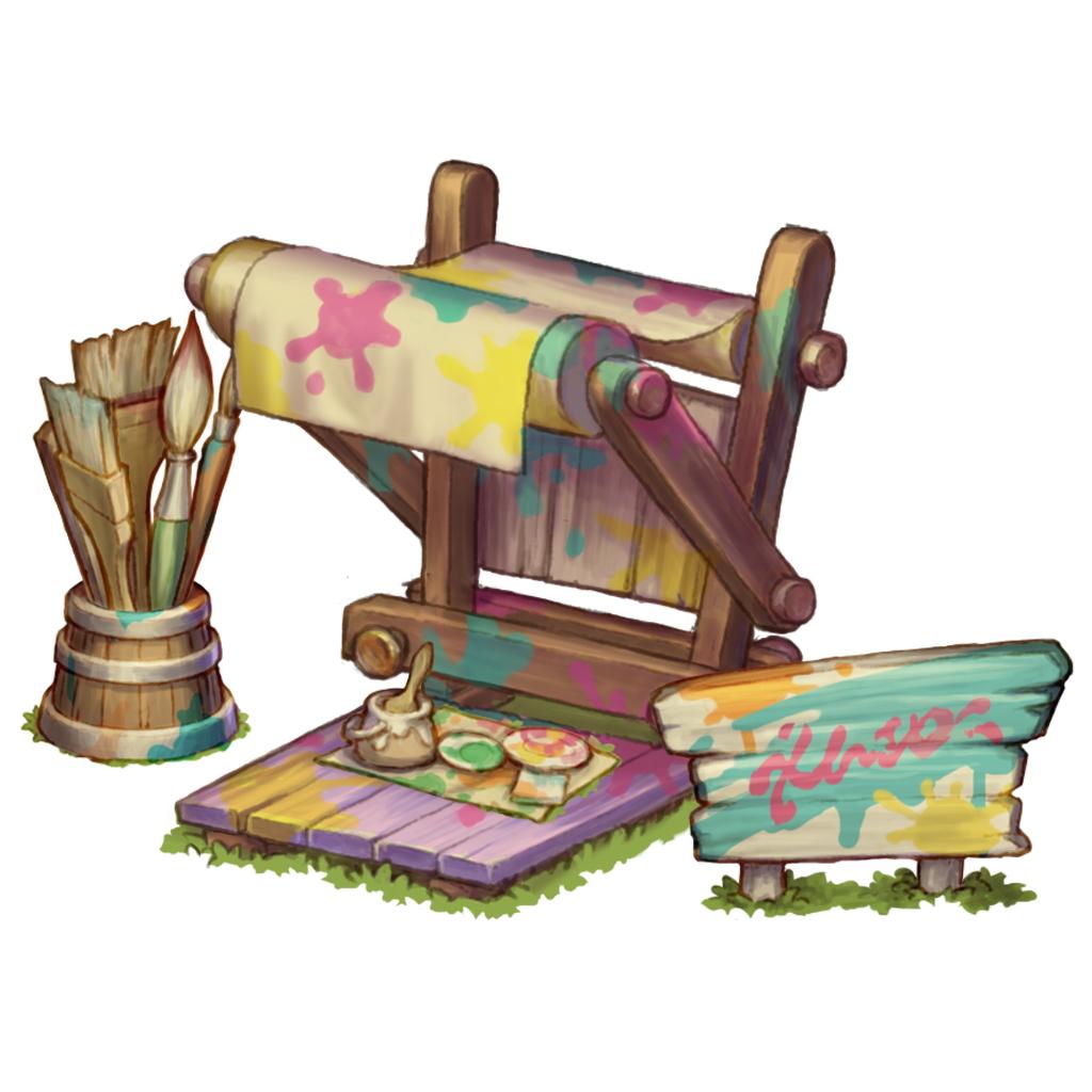 『EGGLIA~赤いぼうしの伝説~』に家具の色をかえる新機能「ペンキ屋」が実装!