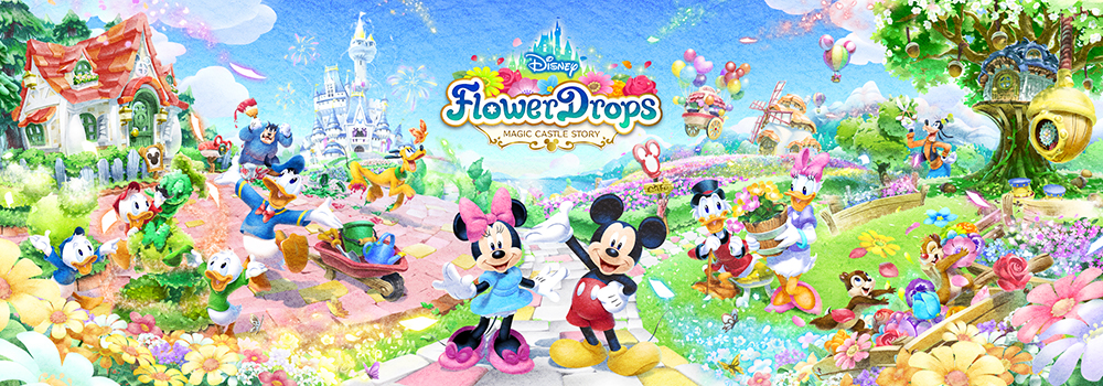 『ディズニー フラワードロップス』が配信決定!事前登録も本日より開始!