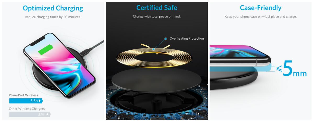 iPhone Xを急速充電!AnkerからQi対応スマホで使えるワイヤレス充電器2種が登場!