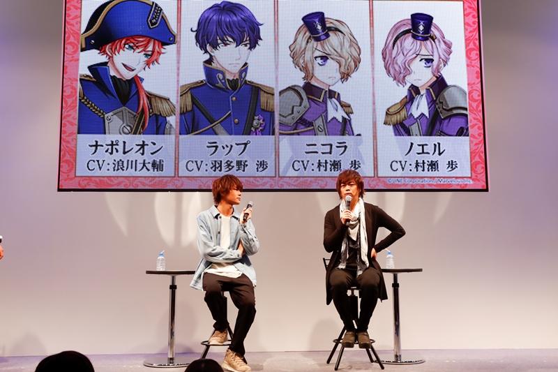八代拓さん、浪川大輔さん登場の千銃士ステージ!CD発売、7月にアニメ化も!【AnimeJapan 2018】