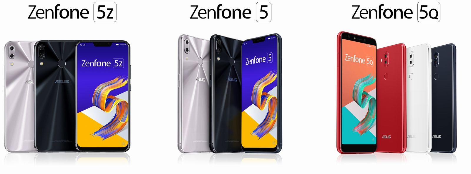 ASUSからAI機能を搭載した「ZenFone 5」シリーズが発表!5月18日より順次販売