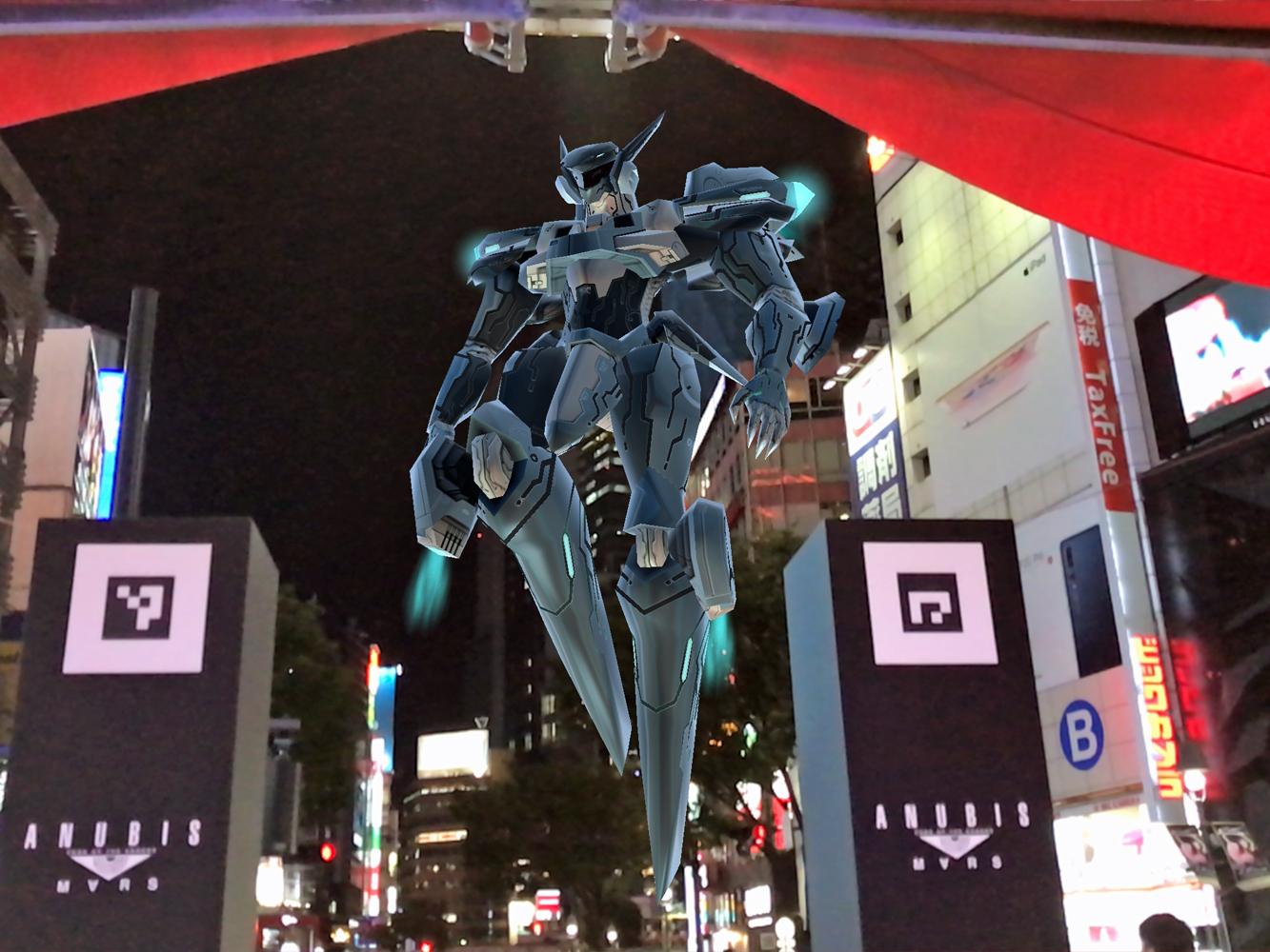 ANUBIS ZONE OF THE ENDERS : M∀RS渋谷上空ARバトルを体験:街中でスマホARを楽しむとはこういうことだ!?【第52回: 西川善司のモバイルテックアラカルト】