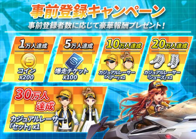 テンセントの新作レースゲーム『爆走ドリフターズ』が事前登録10万人を達成!公式PVを公開中