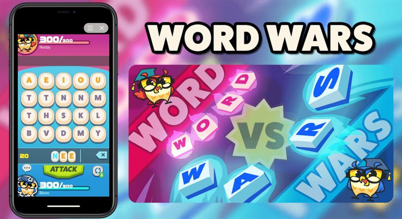 新作英語しりとり対戦ゲーム『WORDWARS』が11月11日(月)より配信開始!
