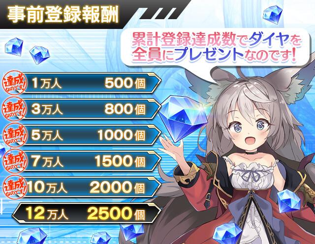 『オーブジェネレーション~攻防する異能力少女~』事前登録者10万人達成!ダイヤ2,000個のプレゼントが確定