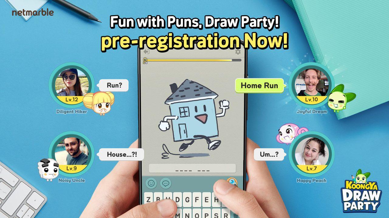 リアルタイムソーシャルお絵描きクイズ『KOONGYA Draw Party』の事前登録が開始!