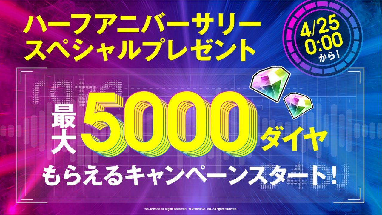 『D4DJ Groovy Mix』が4月25日でハーフアニバーサリー!記念アップデートなどの新情報発表!!